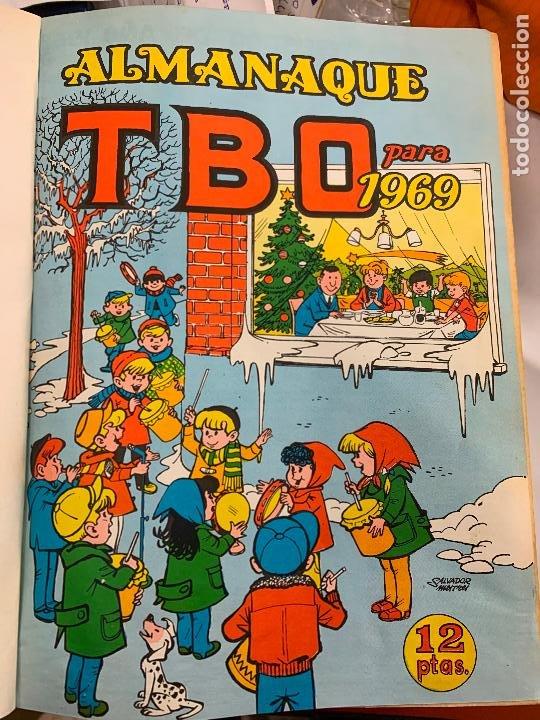 LOTE 65 TEBEOS TBO ORIGINALES AÑOS 69, DE NUM 570 AL 635 + 6 EXTRAS ESPECIALES. TODOS FOTOGRAFIADOS (Tebeos y Comics - Buigas - TBO)