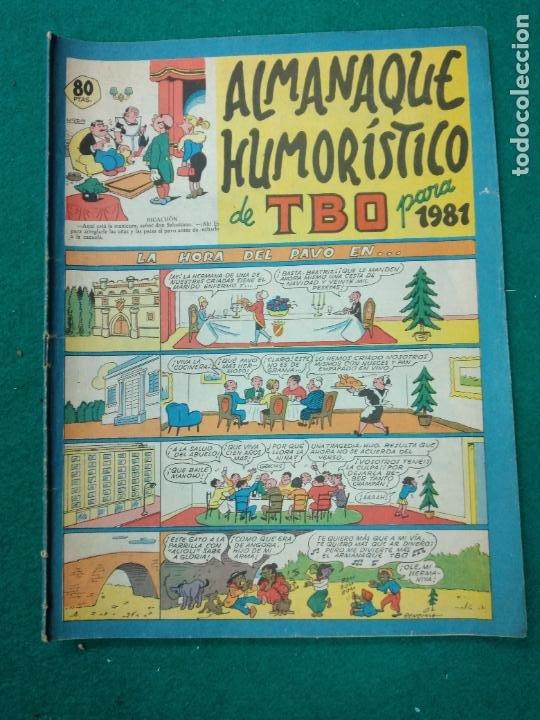 ALMANAQUE HUMORISTICO DE TBO PARA 1981. BUIGAS (Tebeos y Comics - Buigas - TBO)