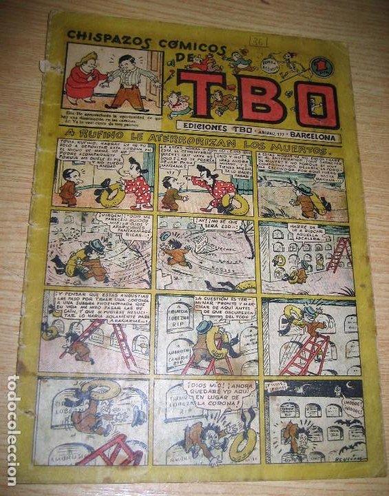 CHISPAZOS COMICOS DE TBO . A RUFINO LE ATERRORIZAN LOS MUERTOS . BENEJAM 1946 Nº 36? (Tebeos y Comics - Buigas - TBO)