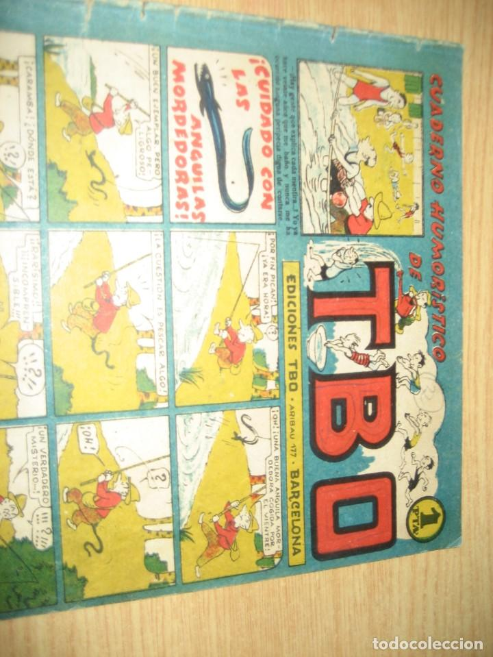 Tebeos: cuaderno humoristico de tbo . cuidado con las anguilas mordedoras . benejam nº 132 ? años 40 - Foto 2 - 259922800