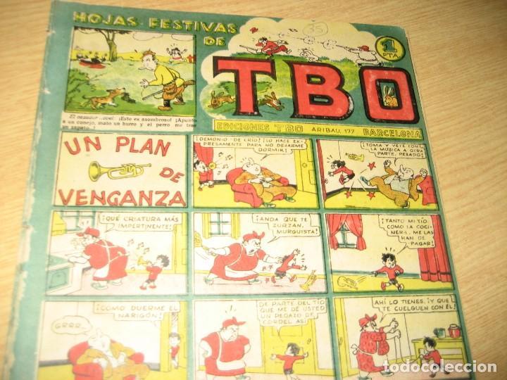Tebeos: hojas festivas de tbo . un plan de venganza . nº 35 ? benejam años 40 - Foto 2 - 259923990