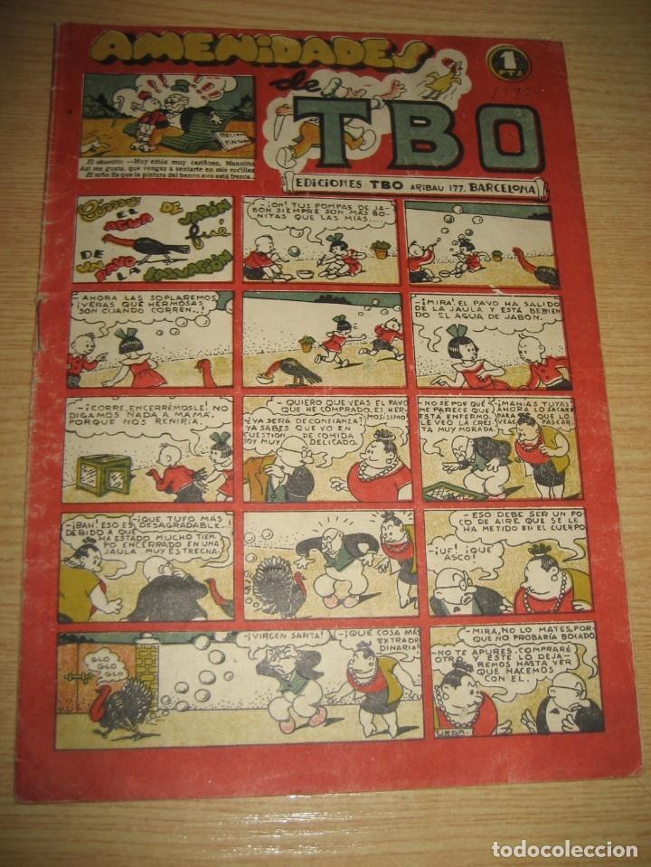 AMENIDADES TBO . COMO EL AGUA DE JABON FUE DE UN PAVO LA SALVACION ... AÑO 1945 (Tebeos y Comics - Buigas - TBO)