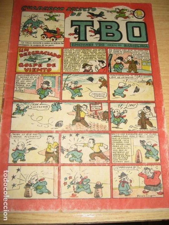 CUADERNO SELECTO DE TBO . UN DESGRACIADO GOLPE DE VIENTO . BENEJAM . AÑOS 40 (Tebeos y Comics - Buigas - TBO)