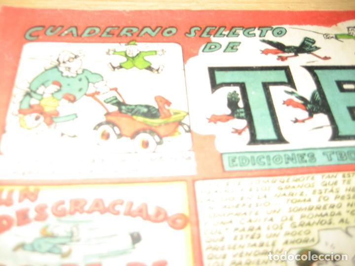 Tebeos: cuaderno selecto de tbo . un desgraciado golpe de viento . benejam . años 40 - Foto 2 - 259925255