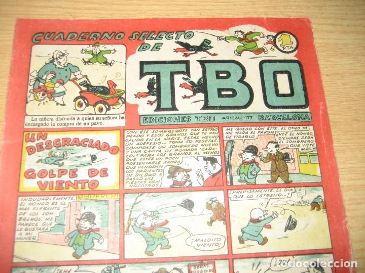 Tebeos: cuaderno selecto de tbo . un desgraciado golpe de viento . benejam . años 40 - Foto 3 - 259925255
