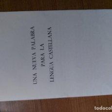 Tebeos: UNA NUEVA PALABRA PARA LA LENGUA CASTELLANA TBO. Lote 261565995