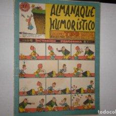 Tebeos: TBO ALMANAQUE HUMORÍSTICO 1958 - 2,50 PTAS -. Lote 262797430