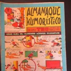 Tebeos: TBO (1944, TBO / BUIGAS, ESTIVILL Y VIÑA) -ALMANAQUE HUMORISTICO-SUBCOLECCION- 12 · XII-1955 · COMO. Lote 269348758