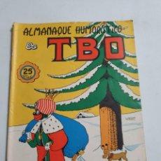 Tebeos: TBO ALMANAQUE HUMORISTICO DE TBO 1972 ESTADO NORMAL BUENO MAS ARTICULOS. Lote 276159883