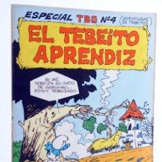Tebeos: ESPECIAL TBO 4. EL TEBEITO APRENDIZ. LOS PITUFOS (PEYO) BUIGAS, 1976. OFRT. Lote 276232643