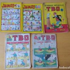 Tebeos: LOTE 5 COMICS AÑOS 60, TBO Y JAIMITO.. Lote 277728368