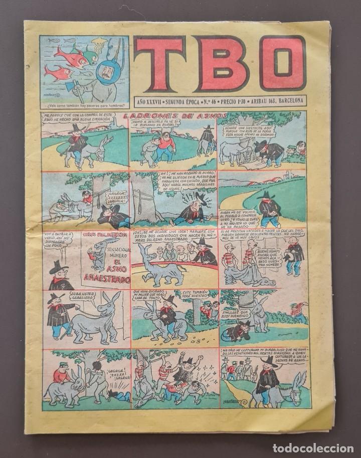 TBO AÑO XXXVII Nº 46 (SEGUNDA ÉPOCA) LADRONES DE ASNOS (Tebeos y Comics - Buigas - TBO)