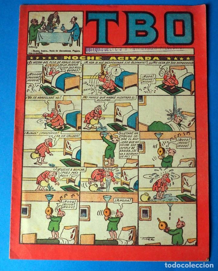 TEBEO: TBO. SIN NUMERAR .NOCHE AGITADA.ANTIGUO OBSEQUIO DE LA CAJA DE AHORROS DE BURGOS (Tebeos y Comics - Buigas - TBO)