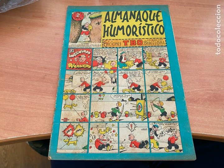 TBO ALMANAQUE HUMORISTICO PARA 1952 EL INGENIOSO RICARDITO (BUIGAS ORIGINAL) (COIB207) (Tebeos y Comics - Buigas - TBO)