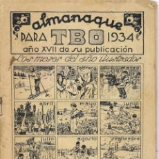 Tebeos: TBO -- ALAMANAQUE 1934 + LAS DIFERENTES HORAS EN EL MUNDO CUANDO ES MEDIODIA EN PARIS. Lote 293285973