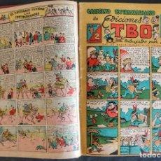 Tebeos: TOMO 1 TBO, CUADERNOS EXTRAORDINARIOS, 32 SIN NÚMERO Y ALMANAQUE 1948 Y 49. Lote 296894688