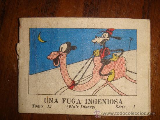UNA FUGA INGENIOSA -WALT DISNEY TOMO 15 SERIE 1 SATURNINO CALLEJA 1942 7.5X5.5 CM (Tebeos y Comics - Calleja)