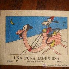 Tebeos: UNA FUGA INGENIOSA -WALT DISNEY TOMO 15 SERIE 1 SATURNINO CALLEJA 1942 7.5X5.5 CM. Lote 27415508