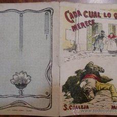 Tebeos: CUENTOS DE CALLEJA. CADA CUAL LO QUE MERECE. SERIE VII. TOMO 125. 16 PAGINAS. 10X7CM.. Lote 24994746