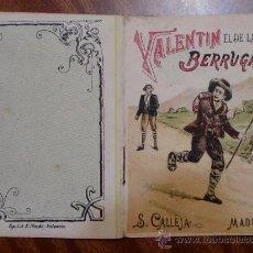 Tebeos: CUENTOS DE CALLEJA. VALENTIN EL DE LAS BERRUGAS. SERIE VII. TOMO 133. 16 PAGINAS. 10X7CM.. Lote 24994976