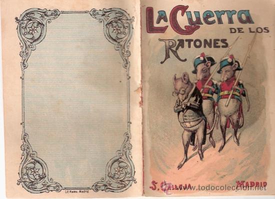 CUENTOS DE CALLEJA. LA GUERRA DE LOS RATONES. TOMO 7. MEDIDAS 14.5 X 10CM. (Tebeos y Comics - Calleja)