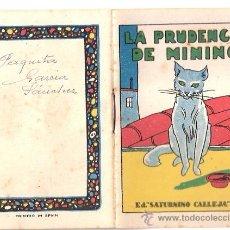Tebeos: CUENTOS DE CALLEJA. LA PRUDENCIA DE MININO. SERIE I. TOMO 3. MEDIDAS 7 X 10CM.. Lote 25202056