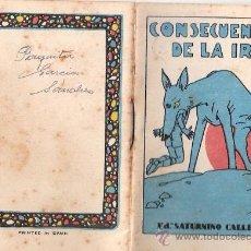 Tebeos: CUENTOS DE CALLEJA. CONSECUENCIAS DE LA IRA. SERIE II. TOMO 33. MEDIDAS 7 X 10CM.. Lote 25202809
