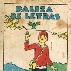 Tebeos: CUENTOS DE CALLEJA, PALIZA DE LETRAS, SERIE XIV, T. 271, MEDIDAS 6 X 8 CM., JOYAS PARA NIÑOS. Lote 27200350