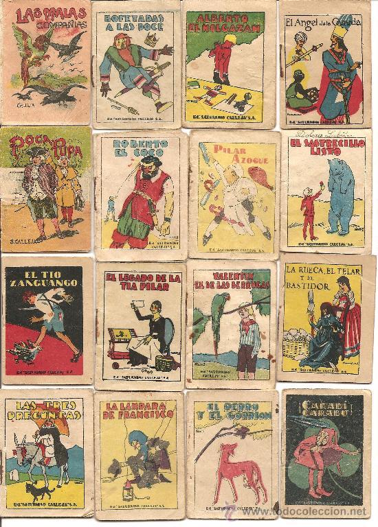 LOTE DE 24 CUENTOS INFANTILES DE SATURNINO CALLEJA (Tebeos y Comics - Calleja)