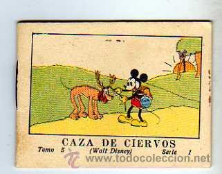 JUGUETES INSTRUCTIVOS MICKEY POR WALT DISNEY. SERIE I TOMO 5. CALLEJA. 1936. CAZA DE CIERVOS (Tebeos y Comics - Calleja)