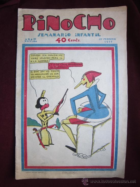 PINOCHO. AÑO III. Nº 106. FEBRERO 1927. BARTOLOZZI. SEMANARIO INFANTIL. EDITORIAL SATURNINO CALLEJA (Tebeos y Comics - Calleja)