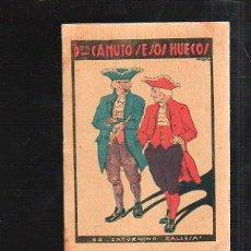 Tebeos: CUENTO DE CALLEJA. DON CANUTO SESOS HUECOS. SERIE XI TOMO 20. 7X10CM. . Lote 43218920