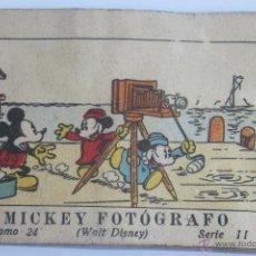 Tebeos: WALT DISNEY MICKEY FOTOGRAFO MINI CUENTO CALLEJA 1936. Lote 43872373