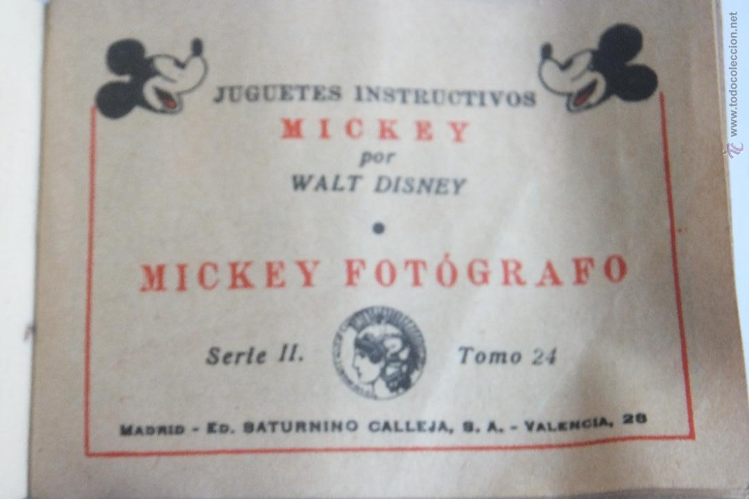 Tebeos: Walt Disney Mickey Fotografo mini cuento Calleja 1936 - Foto 2 - 43872373
