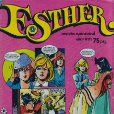BDs: COMIC ESTHER AÑO I Nº 21 DE 1982 CON POSTER DE HUBERTUS (EXCELENTE ESTADO). Lote 44813708