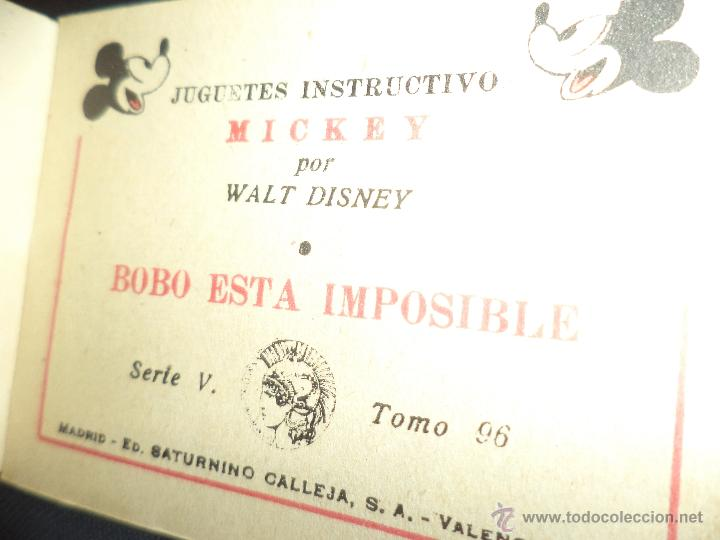 Tebeos: Minicuento Walt Disney de 1942.Editorial Saturnino Calleja.Tomo nº 96 Serie V - Foto 3 - 47081544