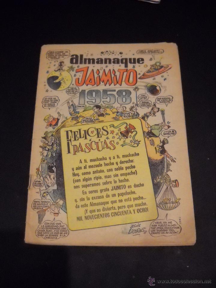 ALMANAQUE JAIMITO PARA 1958. (Tebeos y Comics - Calleja)