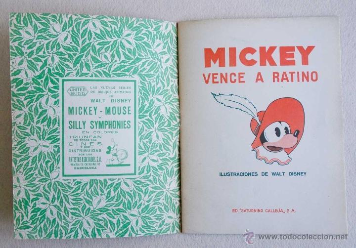 Tebeos: MICKEY Nº 6. ED SATURNINO CALLEJA.1936. PERFECTO ESTADO - Foto 2 - 54622569