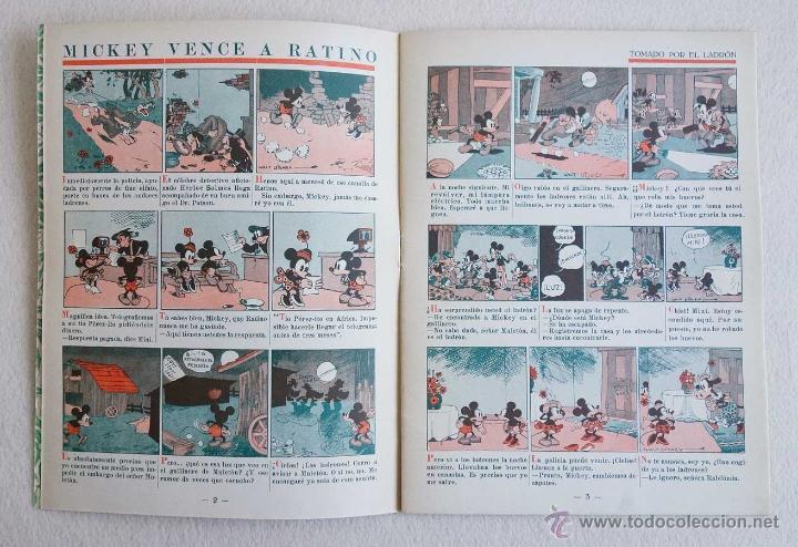 Tebeos: MICKEY Nº 6. ED SATURNINO CALLEJA.1936. PERFECTO ESTADO - Foto 3 - 54622569
