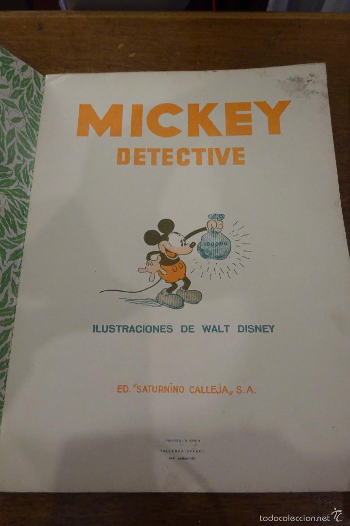 Tebeos: MICKEY DETECTIVE - 1935 - ED. SATURNINO CALLEJA - Foto 3 - 56115235