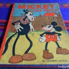 Tebeos: AVENTURAS DE MICKEY Nº 9, MICKEY HACE PROEZAS. CALLEJA 1935. WALT DISNEY. DIFÍCIL. . Lote 82264064
