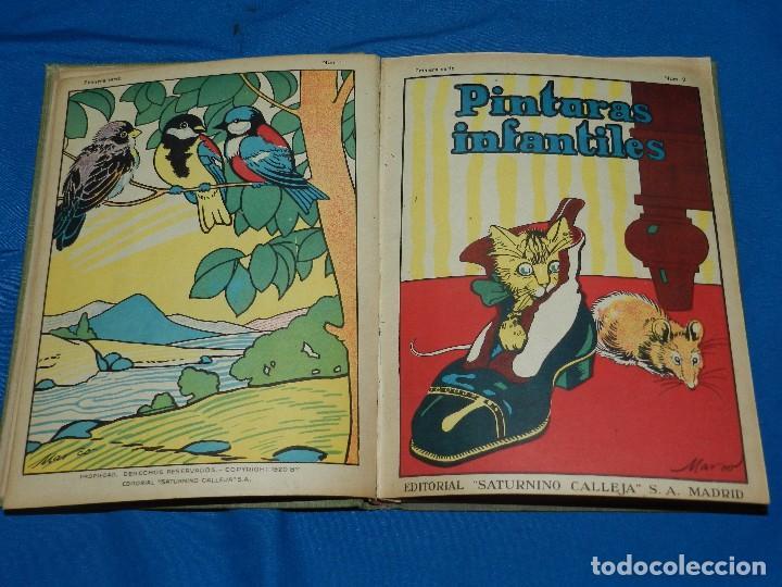Tebeos: (M) LIBRO ALBUM DE PINTURAS INFANTILES EDT SATURNINO CALLEJA , MADRID , CONTIENE 8 NUMEROS - Foto 4 - 102814275