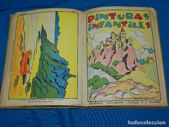 Tebeos: (M) LIBRO ALBUM DE PINTURAS INFANTILES EDT SATURNINO CALLEJA , MADRID , CONTIENE 8 NUMEROS - Foto 6 - 102814275