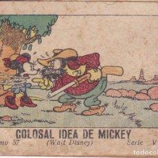 Tebeos: MINI TEBEO DE MICKEY -COLOSAL IDEA DE MICKEY WALT DISNEY TOMO 87 SERIE V CALLEJA 1948. Lote 103682211