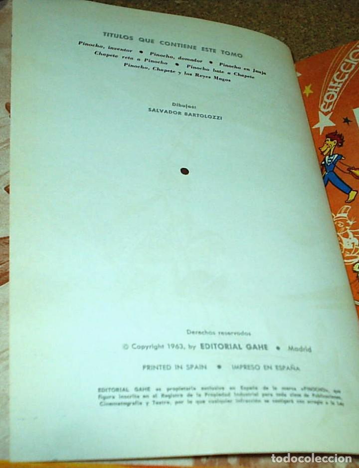 Tebeos: PINOCHO Y CHAPETE COLECCION - TOMO Nº 3 - GAHE 1963- CON 6 Nos. DEL 13 AL 18- REBAJADO- - Foto 2 - 104287811