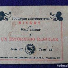 Tebeos: CUENTO DE CALLEJA.WALT DISNEY. JUGUETES INSTRUCTIVOS MICKEY. ESTORNUDO REGULAR. 56. CUENTITO-LIBRITO. Lote 116769279