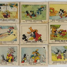 Tebeos: COLECCIÓN DE 9 LIBRITOS. JUGUETES INSTRUCTIVOS MICKEY. WALT DISNEY. EDIT. CALLEJA 1936. . Lote 124618391