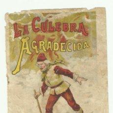 Tebeos: PORTADA DEL CUENTO LA CULEBRA AGRADECIDA DE S. CALLEJA AÑOS 1920 MADRID. Lote 127747575