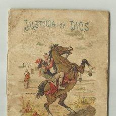Tebeos: CUENTOS DE CALLEJA. JUSTICIA DE DIOS. SERIE V. TOMO 84. 16 PAGINAS. 10X7CM. . Lote 128002099