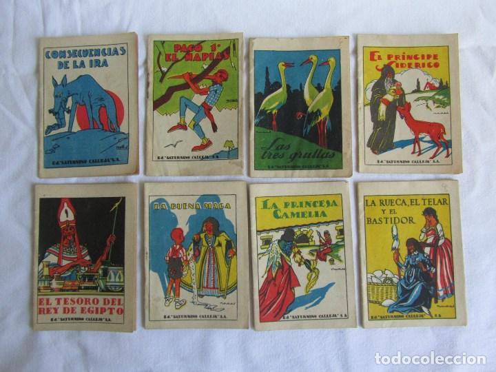 Tebeos: 42 cuentos de Saturnino Calleja 10 x 7 centímetros - Foto 2 - 129089123